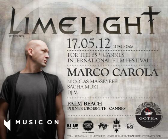 Marco Carola pour Limelight