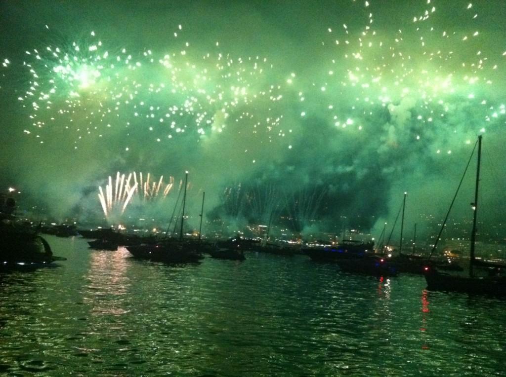 feu d'artifices du 16 juillet à Cannes