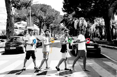 Sur la Croisette à Cannes, 5 Djs refont Abbey Road