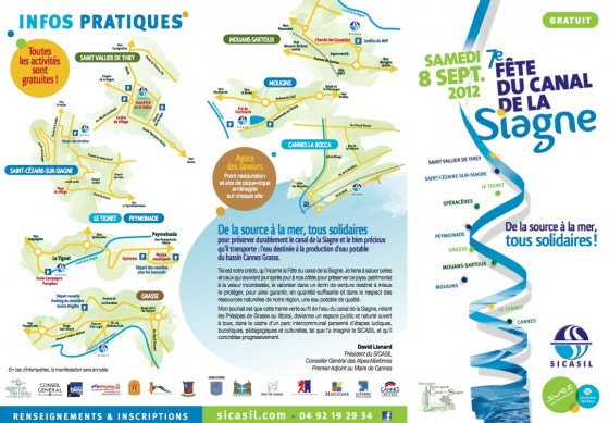 Programme de la fête du Canal de la Siagne