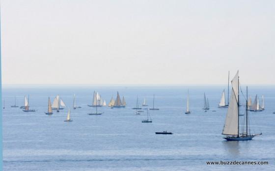 Régates Royales Cannes 2012 depuis les plages du midi