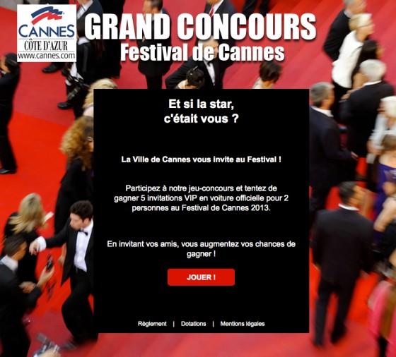 Concours Facebook Ville de Cannes