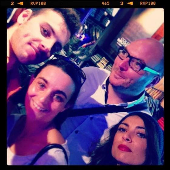 Nicolas, Arnaud, Céline et moi