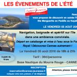 Une soirée apéro / pagaie à l'île Sainte-Marguerite